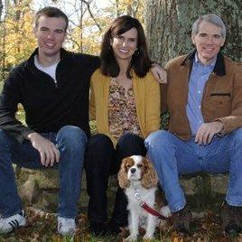 From left to right, son Will Portman, wife Jane Portman, and Sen. Portman.