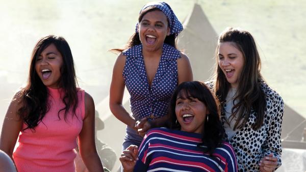 In <em>The Sapphires</em>, an R&B-loving musician helps turn four Australian aboriginal women into a soul act. From left: Julie (Jessica Mauboy), Cynthia (Miranda Tapsell), Gail (Deborah Mailman) and Kay (Shari Sebbens).