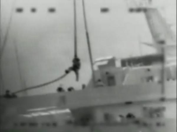 "This video image provided by the Israel Defense Force purportedly shows one of several Israeli commandos being dropped onto the Turkish-flagged ship Mavi Marmara by helicopter on May 31, 2010. A U.N. panel found that the Israeli blockade of Gaza, where the Turkish ship was headed, is legitimate, although the tactics used in the raid were ""excessive and unreasonable."""