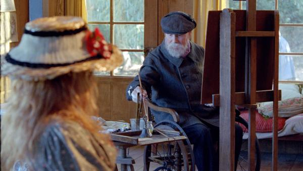 The aging Impressionist master Pierre-Auguste Renoir (Michel Bouquet) immortalizes his young admirers on canvas — though his gifts are fading in the latter days portrayed in Gilles Bourdos' biographical drama.