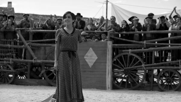 In the role of Snow White, <em>Blancanieves</em>' Carmen (Macarena Garcia) must learn to use the skills of both of her parents — a flamenco diva and a famous matador — to find victory in the arena.