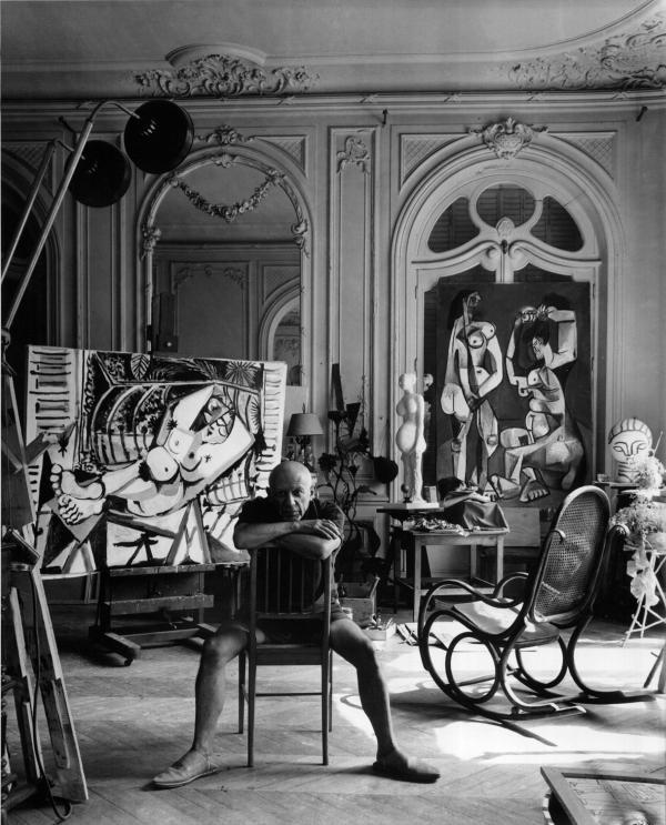 Artist Pablo Picasso, Cannes, France, 1956