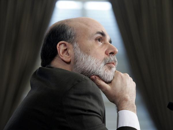 Federal Reserve Chairman Ben Bernanke pauses during a hearing before the House Budget Committee on Feb. 28, 2007.