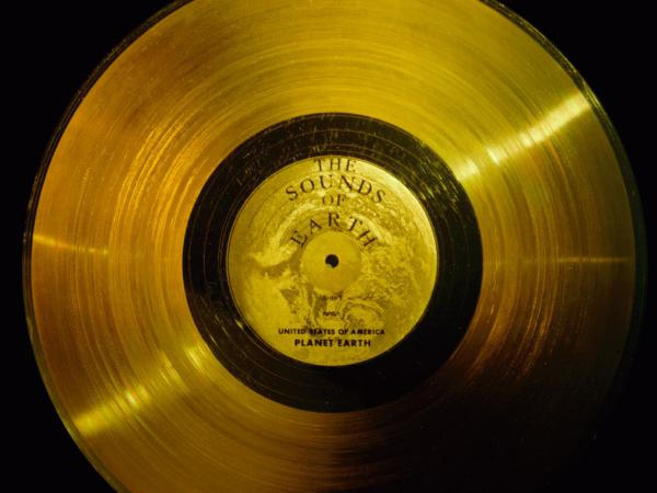 "NASA's website says both Voyager probes carried ""a phonograph record — a 12-inch gold-plated copper disk containing <a href=""http://voyager.jpl.nasa.gov/spacecraft/sounds.html"">sounds and images</a> selected to portray the diversity of life and culture on Earth."""