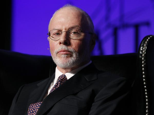 Paul Singer, shown at a conference in Las Vegas on May 9, is a top supporter of GOP presidential candidate Mitt Romney and has also started a superPAC to back Republican candidates who favor same-sex marriage.