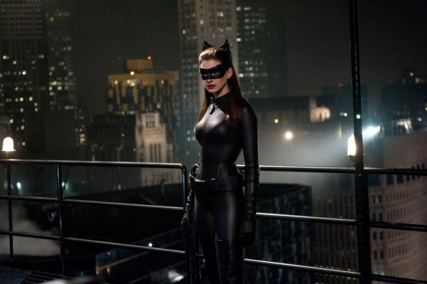 Anne Hathaway as Selina Kyle in <em>The Dark Knight Rises</em>.
