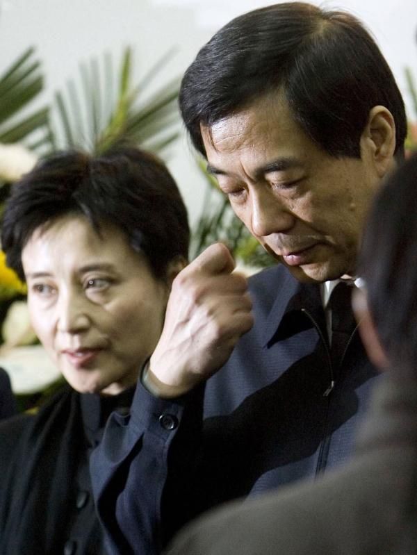 Gu Kailai and her husband, Bo Xilai, in 2007. Her trial involving the murder of a British businessman begins Thursday.