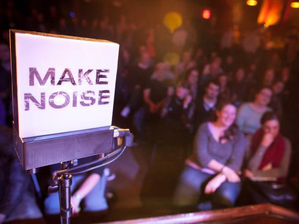 What's a film--or a radio show, for that matter--without an audience to make noise?