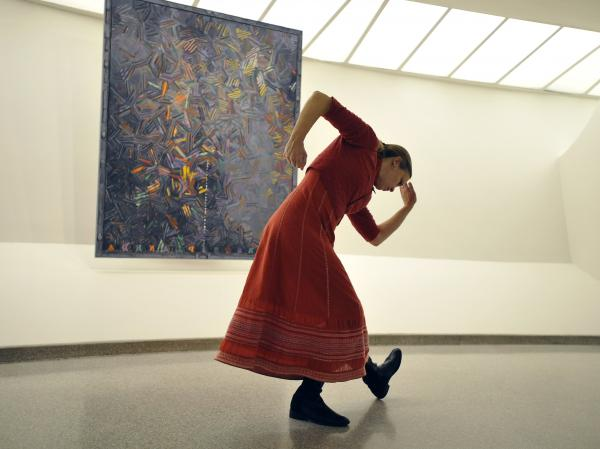 Composer, choreographer, filmmaker and vocalists Meredith Monk performs at the Solomon R. Guggenheim Museum in New York.