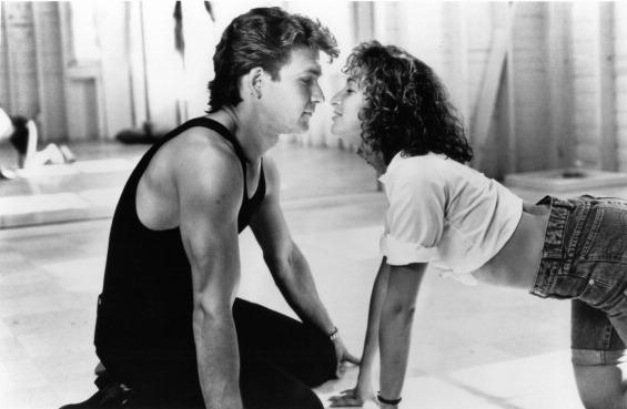 Patrick Swayze and Jennifer Grey in a scene from the 1987 movie <em>Dirty Dancing</em>.