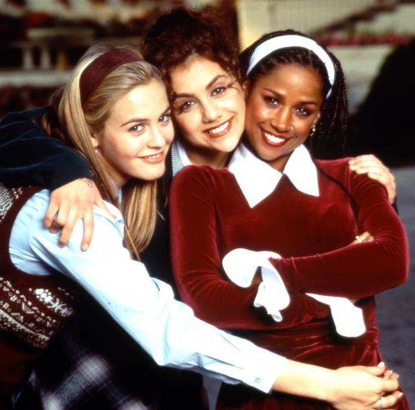 Alicia Silverstone (from left), Brittany Murphy and Stacey Dash in <em>Clueless</em>.