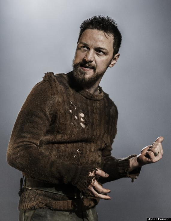 McAvoy as the titular Scottish King in a West End Production of Shakespeare's tragedy, <em>Macbeth</em>. The production is nominated for two Olivier Awards, including one for McAvoy's performance.