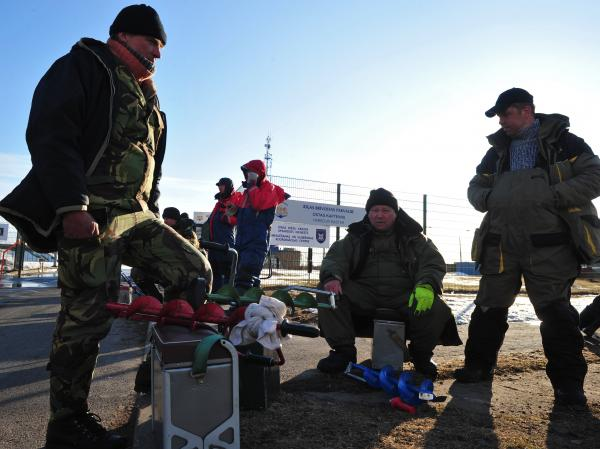 Latvian fishermen were among those rescued from ice floe in Riga on Friday.