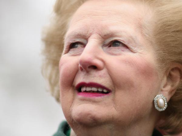 Baroness Margaret Thatcher, former British prime minister, in February 2008 in London.