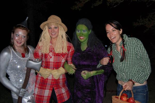"""At 15, my friends and I joked about dressing up as characters from<em> The Wizard of Oz.</em> Ten years later, we actually did it! Left to right: Holland, Briana (that's me!), Beth, and Bree in College Station, Texas."" — submitted by <a href=""http://brimorrison.tumblr.com/"">brimorrison</a>"