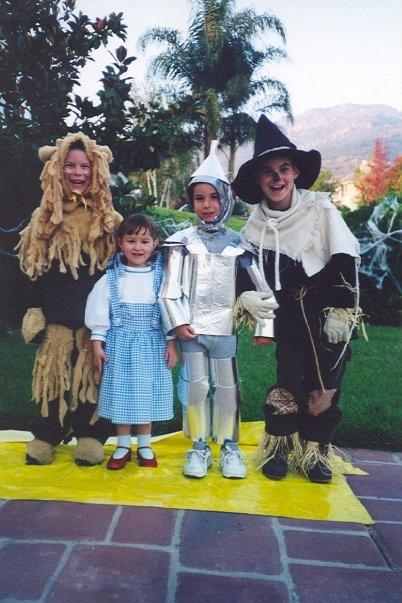 """It all started with a hand-me-down Dorothy costume for our baby sister. Mom got crazed with making the costumes as authentic as possible. The Tin Man had moving joints, Scarecrow was itchy from all the straw, and the Lion was hot and sweaty under all that fake fur!"" — Eyde Reilly, 50, Southern California"