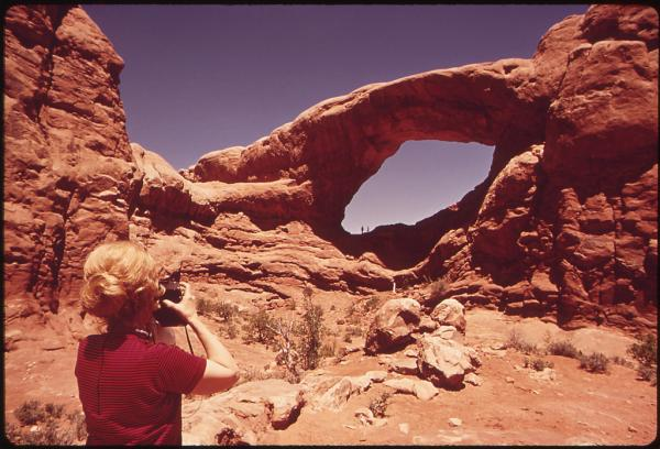 Arches National Park, Utah, 1972.