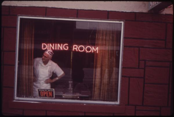 The cook at Texan Cafe, Rifle, Colo., 1973.