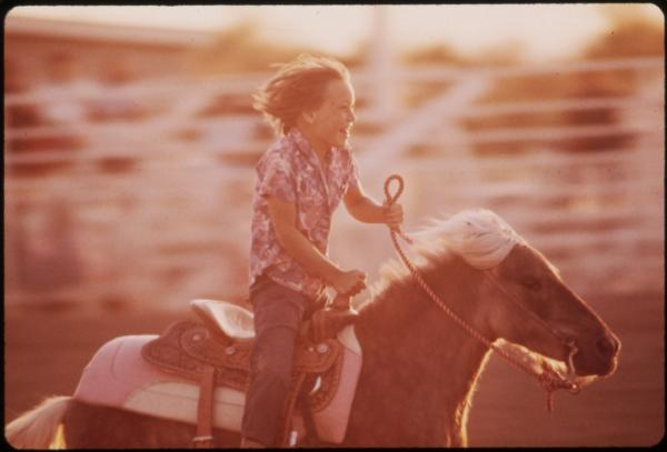 The annual junior rodeo on the Colorado River Indian Reservation in Yuma County, Ariz., 1972