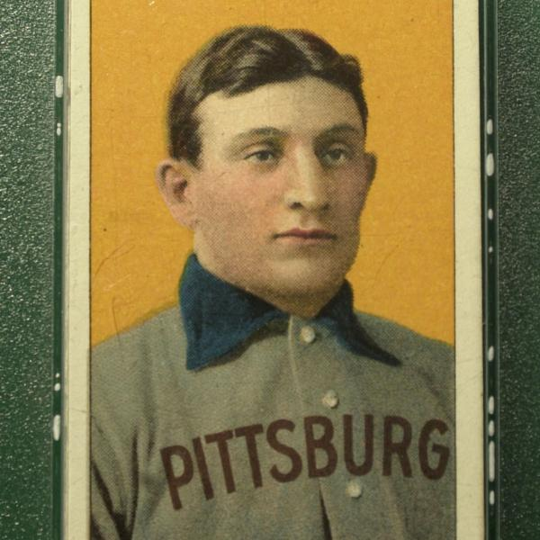 A rare example of the 1909 Honus Wagner baseball card. In 2007, one of them fetched a whopping $2.8 million.