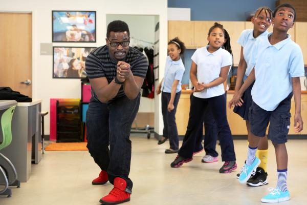 Michael Weems teaches dance classes at Savoy and is currently preparing the school for a flash mob.