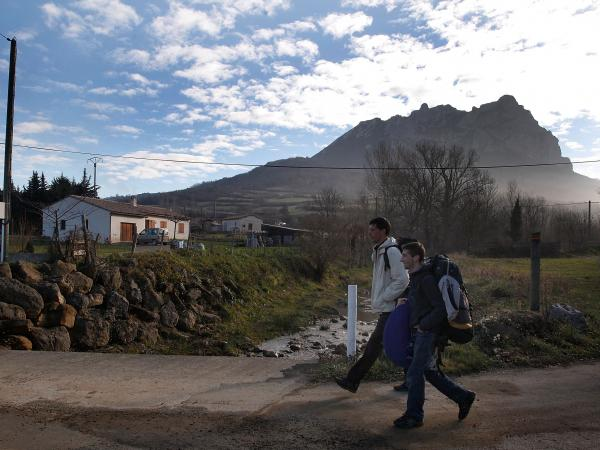 Tourists visit Bugarath, a small village in the foothills of the French Pyrenees, on Dec. 20, 2012.