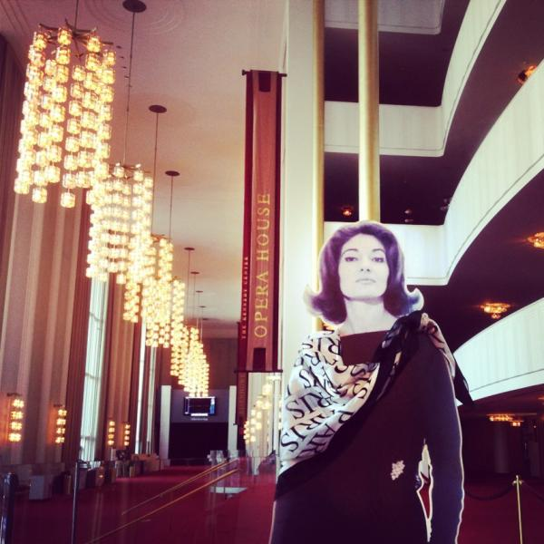 Drawn by the scent of a recent production of <em>Norma</em> (her signature role), Callas deigned to visit the Kennedy Center Opera House. (Remember: Aristotle Onassis dumped Callas for Jackie.)