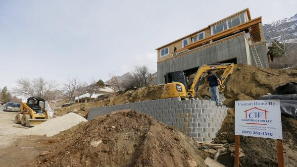 A home under construction in Provo, Utah, earlier this year.