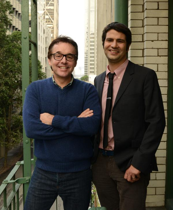 Chris Columbus (left) is a producer, director and screenwriter whose films include <em>The Goonies </em>and<em> Gremlins.</em> Ned Vizzini (right) is the author of books for young adults, including <em>It's Kind of a Funny Story.</em>