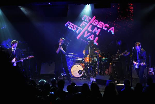 The National, subject of the documentary film <em>Mistaken For Strangers,</em> performed at the April 17 opening-night party for the 12th annual Tribeca Film Festival.