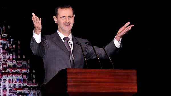 A top Israeli military official on Tuesday accused Syrian President Bashar Assad's regime of using chemical weapons in recent fighting in Syria. Syria has denied using such weapons. Assad is shown here at the Opera House in Damascus in January.