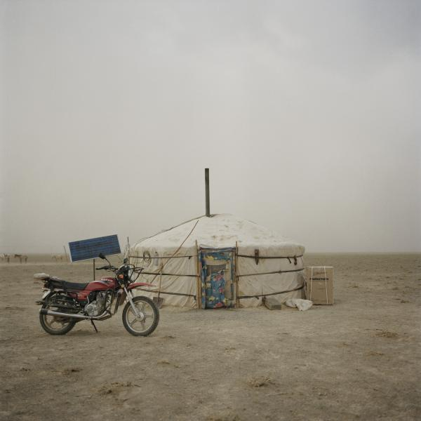 The <em>ger</em> where the nomad family lives. Mongolia, Gobi, Omongovi, 2012.