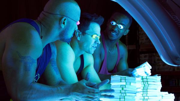 Paul (Dwayne Johnson), Daniel (Mark Wahlberg) and Adrian (Anthony Mackie) are three Miami bodybuilders with big ambitions and not much in the way of smarts.