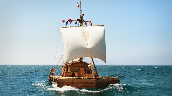 The titular craft in <em>Kon-Tiki</em> might seem an unlikely vessel to conquer the high seas — but the real-life Norwegian explorer and journalist Thor Heyerdahl put it to just such a test in 1947. Joachim Ronning and Espen Sandberg dramatize his story in a handsome new movie filmed simultaneously in both English and Norwegian versions.