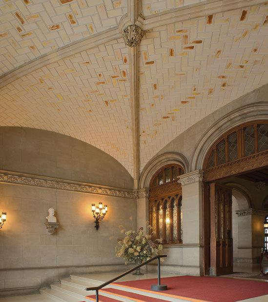 The Guastavino touch also extened to palaces of a more private sort. Pictured here is the entrance hall of the famous Biltmore Estate in Asheville, N.C.