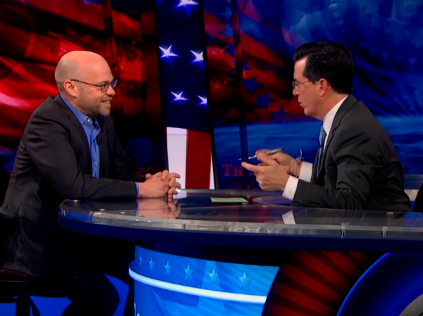 NPR's Adam Davidson on <em>The Colbert Report.</em>