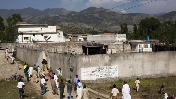 Following the raid on Osama bin Laden's compound, seen here on May 3, Pakistan has called for the U.S. to reduce its military footprint in the country.