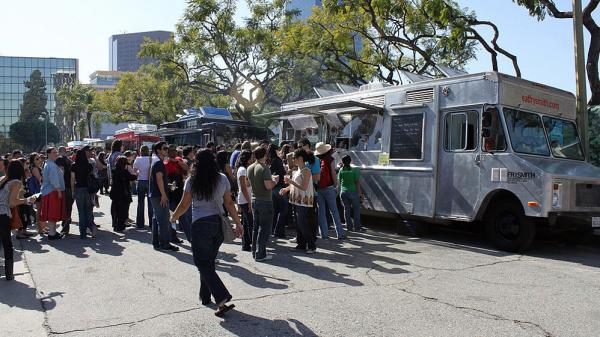 "Crowds gather at L.A. Street Food Fest last year, where food  trucks competed for awards such as ""Best in Show"" and ""People's Choice Award."""
