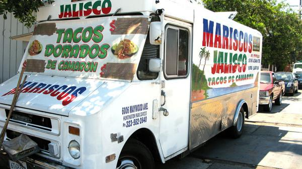"Long before the new wave of gourmet trucks came to Los Angeles, Raul Ortega started a taco truck in East Los Angeles called Mariscos Jalisco. Last year at the L.A.  Street Food Fest, Ortega won ""Best in Show"" and the ""People's Choice  Award."""
