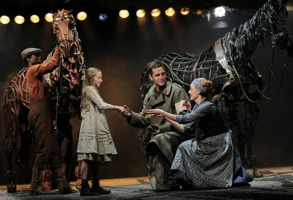 A scene from the Lincoln Center production of <em>War Horse</em>. The Handspring Puppet Company is set to win a special Tony award during Sunday's telecast.
