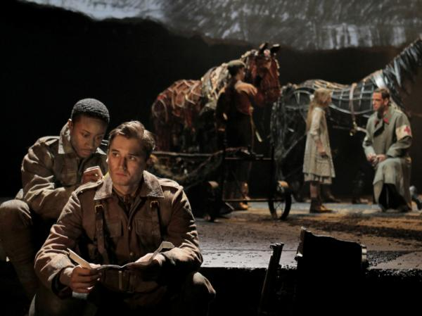 David Pegram (left) and Seth Numrich in a scene from Nick Stafford's <em>War Horse</em>.