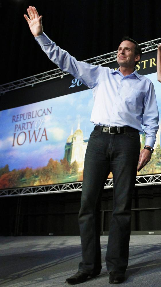 Former Minnesota governor Tim Pawlenty dropped out of the 2012 presidential race on Sunday.
