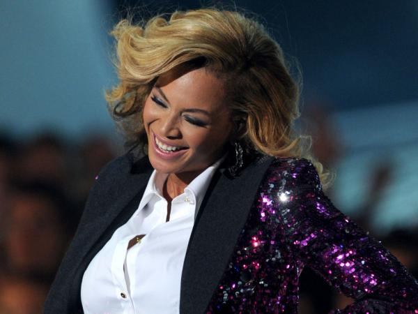 Beyonce during her performace Sunday.