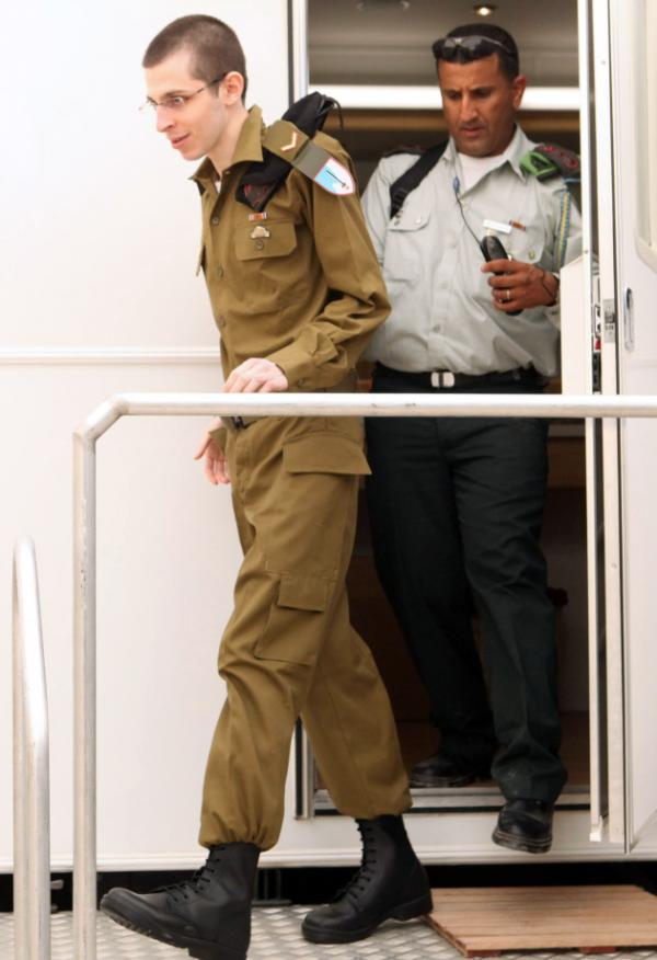 <p>An Israeli Defense Forces photo of Sgt. Gilad Shalit an unknown location today in Israel, following his release. </p>