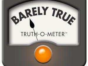 "<p>PolitiFact's ""Barely True"" rating. </p>"