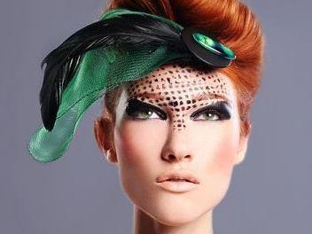 <p>A model wears one of Nailah Lymus's fascinators. </p>