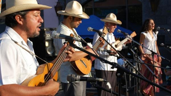 <p>Mono Blanco, a veteran Son Jarocho band from Veracruz, performs in Los Angeles.</p>