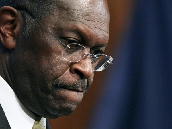 "<p>Republican presidential candidate Herman Cain speaks Monday at the National Press Club in Washington, D.C. During a question and answer portion of the program, Cain called the accusations of sexual harassment against him ""a witch hunt.""</p>"