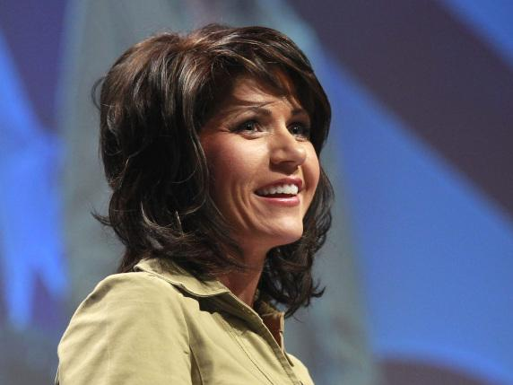 Rep. Kristi Noem, R-S.D., addresses the Conservative Political Action Conference in Washington, Feb. 10.