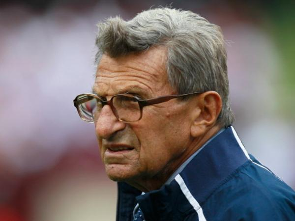 Penn State football coach Joe Paterno.